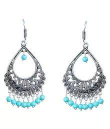 Waama Jewels Multi Brass Hanging Earrings