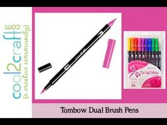 ▶ Blending Techniques with Tombow Dual Brush Pens - CHA Special Feature - YouTube. Excellent and simple how-to!
