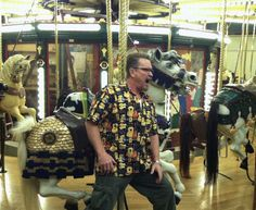 Seems Bob Wire is a local Missoula Celebrity--thus his Missoula Carousel ride for a cause. He's so funny!