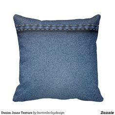 Denim Jeans Texture Pillows