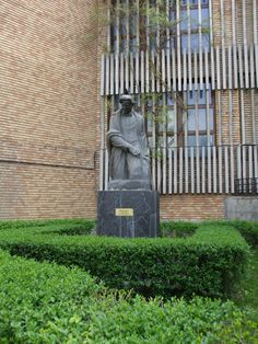 The statue of George Enescu - well known Romanian musician and composer - near Music Academy, on Stirbey Voda Street in Bucharest. Bucharest, Singers, Musicians, Outdoor Structures, Colours, Statue, Street, Music Artists, Composers