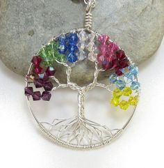 Grandmother Necklace  Birthstone Jewelry Gifts by SleepingSpirit, $38.00