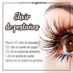 elixir of long eyelashes natural beauty- elixir de pestañas largas belleza natural elixir of long eyelashes natural beauty - Beauty Make Up, Beauty Care, Beauty Skin, Skin Tips, Skin Care Tips, Beauty Secrets, Beauty Hacks, Beauty Tips, Makeup Tips