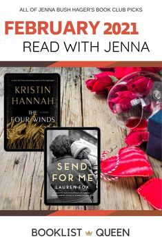 Find out what the Read with Jenna book club is reading this month (The Four Winds and Send For Me) and see every book on Jenna Bush Hager's book club list. Book Club List, Best Book Club Books, Book Lists, Good Books, Lily King, Jenna Bush Hager, Kristin Hannah, Starting A Book, First Daughter