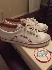 1992 Keds Championship Series Leather Stitched Baseball Sneakers Womens 6.5