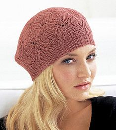 Lace Beret pattern by Kate Gagnon Osborn Lace Patterns, Knitting Patterns Free, Free Knitting, Maquillaje Halloween Tutorial, Moda Emo, Cable Knit Hat, Vogue Knitting, Shorty, Slouchy Hat