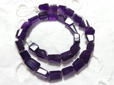 Natural African Amethyst Faceted 7-10 MM | Amethyst Tumbled |Amethyst Nuggets | Purple Amethyst Beads | 10 Inch Strand | Gemstone Supplier