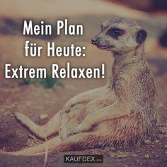 Mein Plan für Heute: Extrem Relaxen!