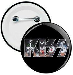 L027 - Botons e Chaveiros - Kiss - Wathsapp: (61) 9 9129-7213