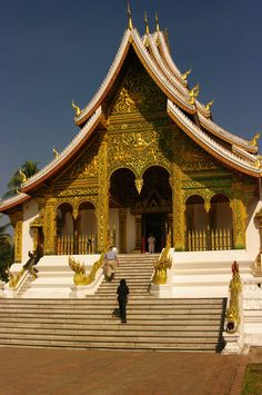 Luang Prabang Museum - Lao Laos Travel, Buddha Temple, Mountainous Terrain, Virtual Travel, Vientiane, French Colonial, Luang Prabang, Colonial Architecture, Historical Monuments