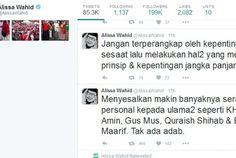 Putri Gus Dur: Kok Tega Mengobok-ngobok Ranah Privat Ulama
