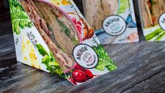Anchor Catering / Food-To-Go on Packaging of the World - Creative Package Design Gallery Sandwich Packaging, Food Packaging, Packaging Ideas, Biodegradable Packaging, Biodegradable Products, Catering Food, Food To Go, Packaging Design Inspiration