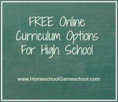 Online high school...home school?