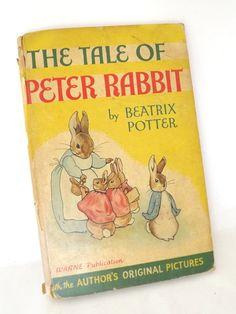 Vintage Antique Book Tales of Peter Rabbit Rare Original Art Pictures Beatrix Potter Warne & Co..