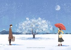 Billie Marten - Winter Song (with Lyric) Winter Illustration, Couple Illustration, Illustration Art, Anime Love Couple, Couple Art, Night Gif, Couple Drawings, Girl Drawings, Couple Wallpaper
