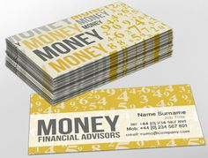 Contemporary business card design, ideal for finance. Customise a range of business card templates online for print at http://brunelone.com/premium-business-cards/designs