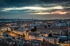 Fly over Lisbon - In one of the most appreciated places to observe Lisbon: : Senhora do Monte - Graça - Lisbon - Portugal