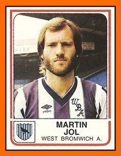 Martin Jol in his playing days. Soccer Cards, Football Cards, Football Players, Football Stuff, Fifa, West Bromwich Albion Fc, Fulham Fc, British Football, Happy Guy