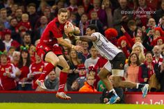 George North in action against Fiji.