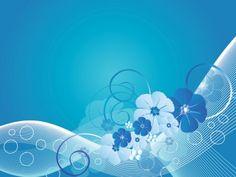 Blue Flower Design PPT Backgrounds