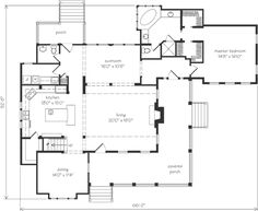 Grayson oaks moser design group southern living house for Moser design group house plans
