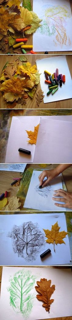 Placemat for Thanksgiving - DIY Leaf Drawings diy crafts craft ideas easy crafts diy ideas diy idea diy home easy diy diy art for the home crafty decor home ideas diy decorations craft art autumn crafts fall crafts Kids Crafts, Fall Crafts, Holiday Crafts, Diy And Crafts, Diy Christmas, Leaf Crafts, Christmas Cards, Christmas Pictures, Autumn Activities