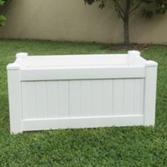 Planter Bo White Pvc Rectangle