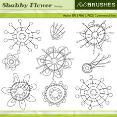 free digi stamps paisley | Digital Stamps - Shabby Flower Stamps - MYGRAFICO - DIGITAL ARTS AND ...
