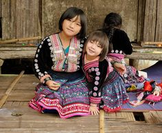 Little Hmong Girls by Fulvio Toso