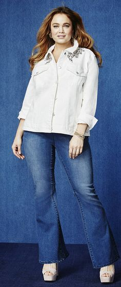 7d900d8247 Nanette by Nanette Lepore Plus Size Hampton Pull-On Flared Darkfade Wash  Jeans   Reviews - Jeans - Plus Sizes - Macy s