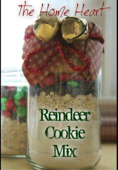 Reindeer Cookie Mix in a Jar