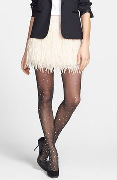 festive tights!  the price tag will take you to the bank.