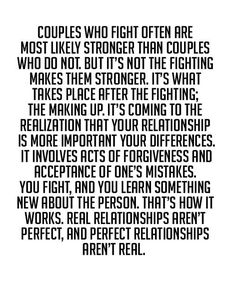 Real Relationship Aren't Perfect - Great Relationship Quote