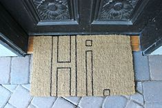 A DIY Doormat via DreamBookDesign