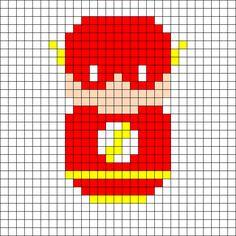The Flash Perler Bead Pattern