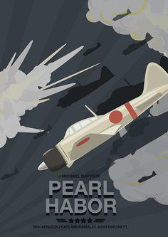 Pearl Harbor (2001) ~ Minimal Movie Poster by Tippaya Tippun #amusementphile