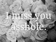 I miss you asshole. This would be a guy thing. Pretty funny!