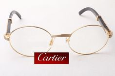 299b300fe29 Cartier Glasses with Gold Panther Temples.