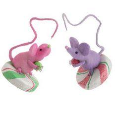 2012 RAZ Candy Wonderland...mice on pepper mints