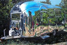 Airstream Trailer Fine Art Print 12x8 24x16 or 36x24 inches by TaraleeGuildGallery on Etsy
