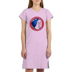 b3c89c8f33 Around the World with Spinzilla Women s Nightshirt Pajama Shirt