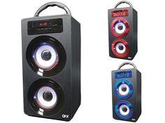 QFX BT-140 Bluetooth Portable Rechargeable Speaker +FM Radio +USB/SD +LED Light…