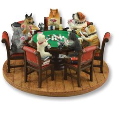 dollhouse  Dogs Playing Poker Display