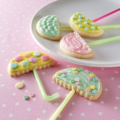 Umbrella Butter Cookies (April Showers Party theme!)