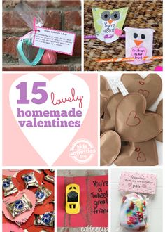 Love these ideas!!!! 15 {Lovely} Homemade Valentines