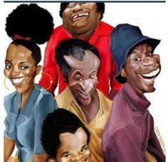 Some fantastic Black art of the TV show Good Times