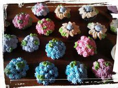 Mini jardín de cupcakes