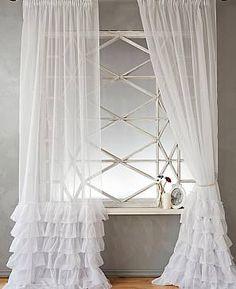 Комплект штор «Викси» белого цвета
