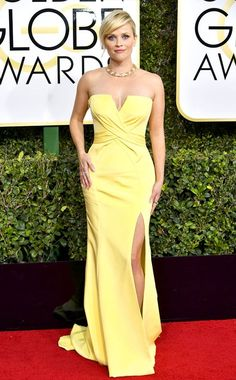 Cheap celebrity dresses, Buy Quality golden globe directly from China reese witherspoon Suppliers: 2017 Sexy Inspired by Reese Witherspoon Annual Golden Globe Awards Celebrity Dress Yellow Prom Dress Evening Dresses Yellow Fashion, Red Carpet Fashion, Mom Dress, Dress Up, Evening Dresses, Prom Dresses, Fashion Mode, Celebrity Red Carpet, Red Carpet Looks