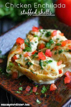 Eat Cake For Dinner: Chicken Enchilada Stuffed Shells